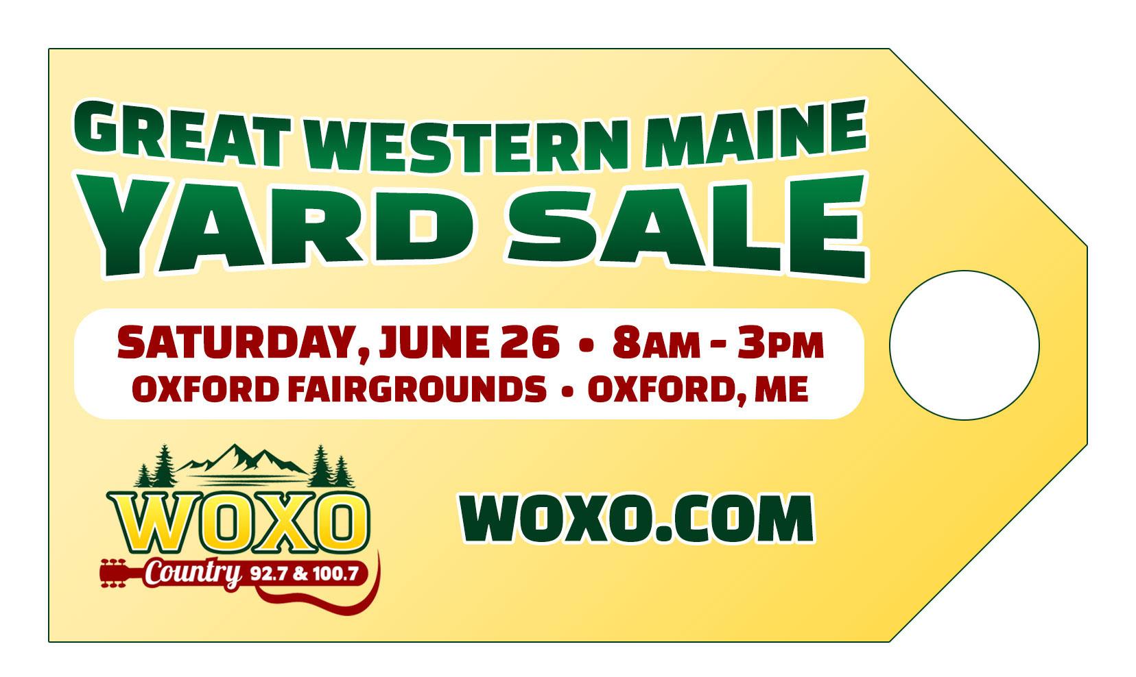 Great Western Maine Yard Sale